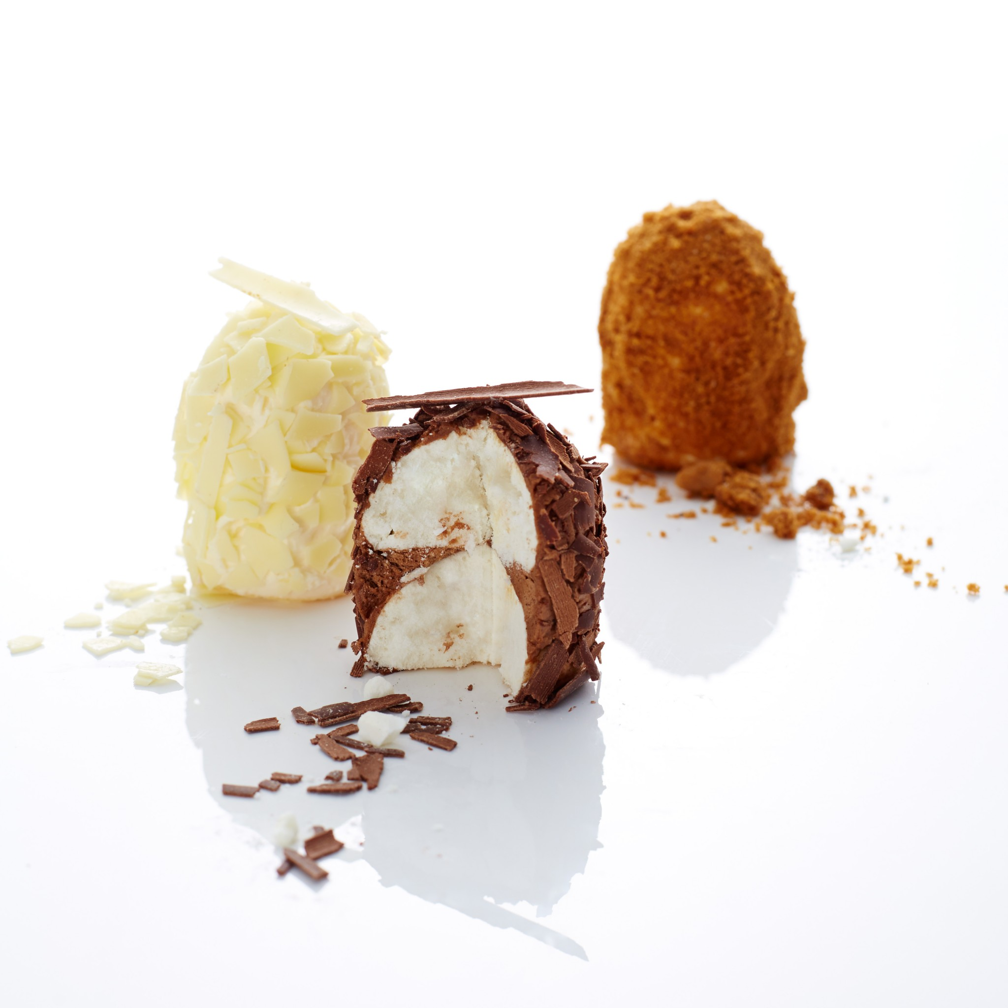 Mini merveilleux chocolat, chocolat blanc ou spéculoos