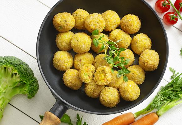 Boulettes de légumes, pannées