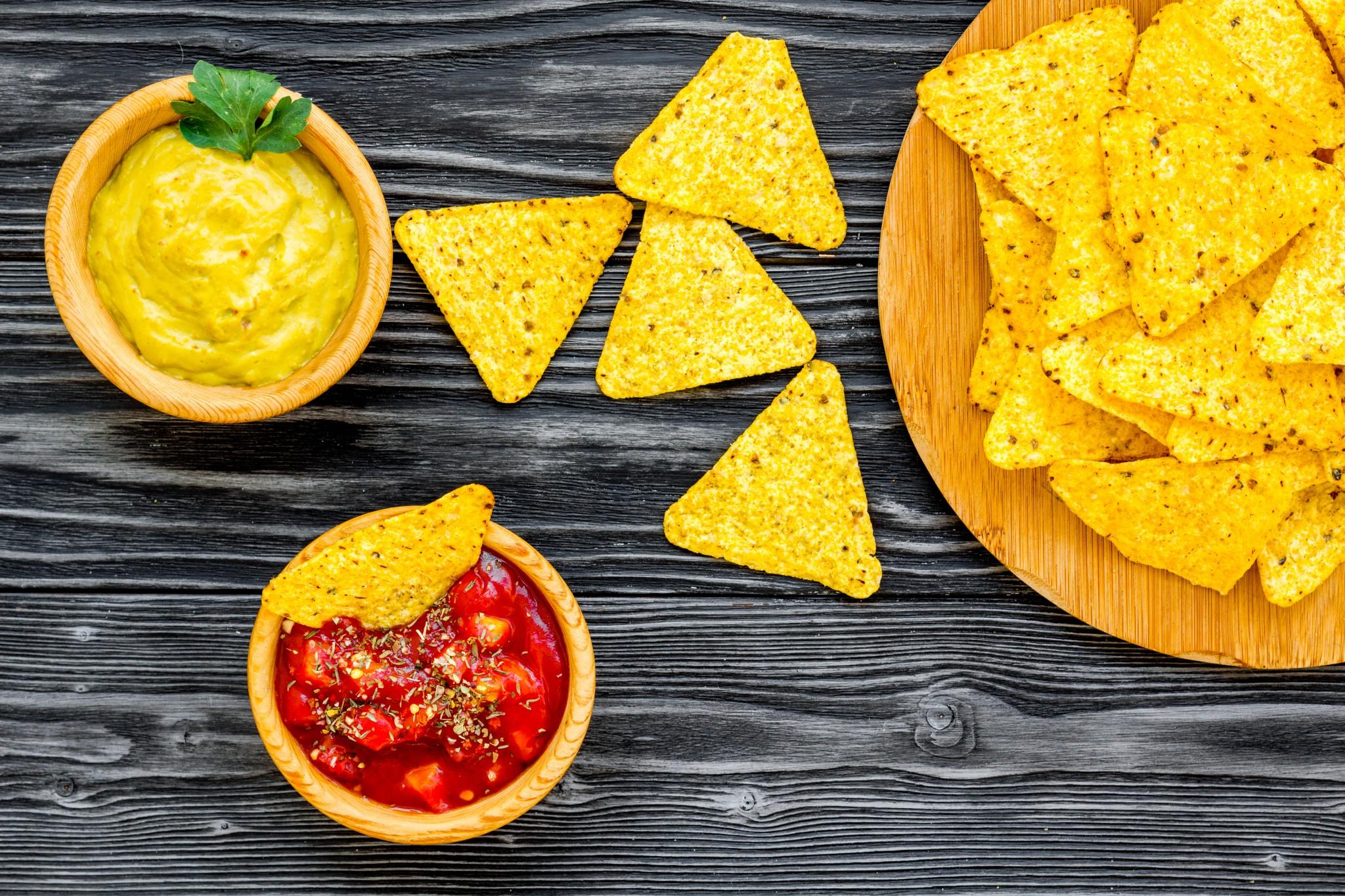 Nachos et sauce salsa