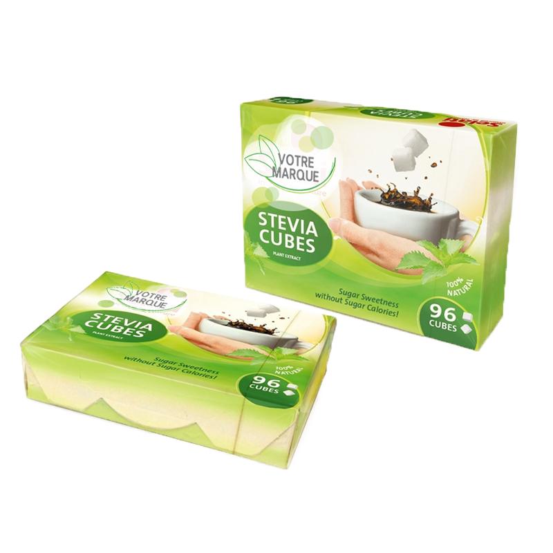 Edulcorant en morceaux à base de stevia