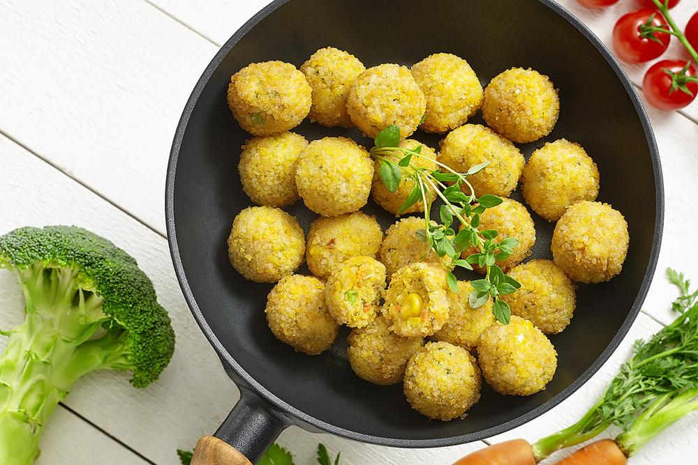 Boulette de légumes, panée - BIO & VEGAN