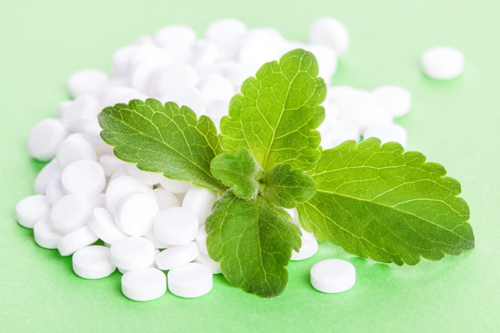 Edulcorant en comprimé à base de stevia